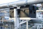 Dual Universal Boat Lift Battery Tray