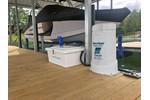 2M DC Boat Lift Blower Motor System + 40w-24v Boat Lift Solar Charging Kit (2-Lifts)