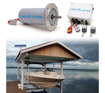 Wireless C-Face Motor System + 20w-24v Boat Hoist Solar Charging Kit