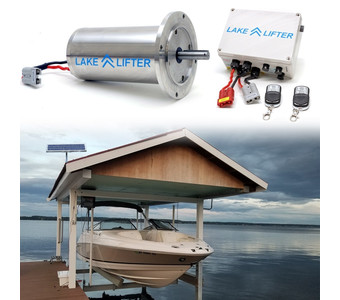 Boat Lift Motor + Solar Charging Kit - Stainless Steel DC 20w-24v
