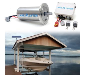 Wireless C-Face Stainless Steel Motor System + 20w-24v Boat Hoist Solar Charging Kit