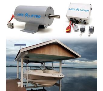 Boat Hoist Motor + Solar Charging Kit DC 40w-24v