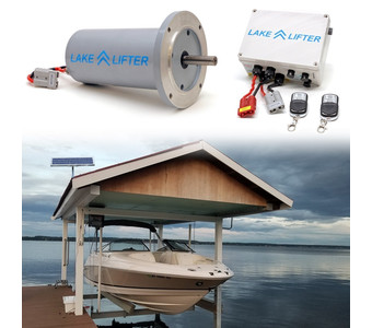 Boat Lift Motor + Solar Charging Kit DC 30w-24v