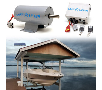 Boat Hoist Motor + Solar Charging Kit DC 30w-24v